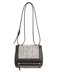 Givenchy Pandora Box Mini Studded Elaphe And Leather Shoulder Bag Black White