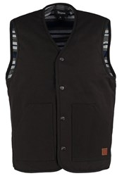 Brixton Anchor Waistcoat Washed Black Blue Black Denim