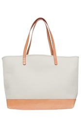 Mansur Gavriel Large Canvas Tote Bag Beige