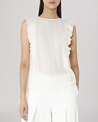 Reiss Blouse True Fluid Sleeveless Champagne