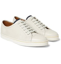 John Lobb Brushed Leather Sneakers White