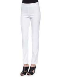 Avenue Montaigne Billy Straight Leg Pants White