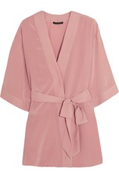 Kiki De Montparnasse Amour Perfect Silk Crepe De Chine Robe Blush