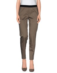 Space Style Concept Trousers Casual Trousers Women Khaki