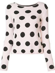 Natasha Zinko Polka Dot Jumper Pink And Purple