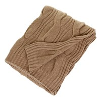 Sofia Cashmere New York 12 Ply Cable Twist Throw Camel
