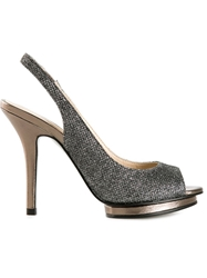 Pelle Moda 'Rivka' Stiletto Sandals Grey