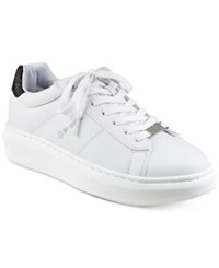 G By Guess Harly Platform Lace Up Sneakers Women's Shoes White