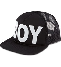 Boy London Snapback Trucker Cap Black White