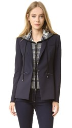 Veronica Beard Scuba Jacket With Rodeo Hoodie Dickey Dark Navy