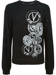 Versus Intarsia Logo Sweater Black