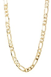 Candela 10K Yellow Gold Unisex 20' Figaro Necklace Metallic