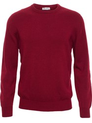 Browns Cashmere Crew Neck Jumper Red
