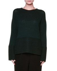 Marni Long Sleeve Knit Cashmere Sweater Green