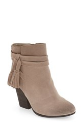 Very Volatile Women's 'Enchanted' Tassel Detail Bootie Taupe Suede