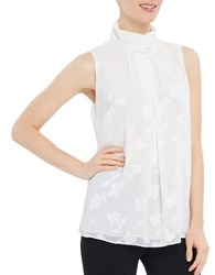 Ellen Tracy Satorial Sophistication Highneck Top White