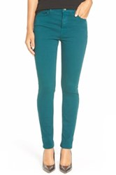 Jen7 Stretch Sateen Slim Straight Leg Pants Green