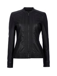 Wallis Black Embrioded Leather Look Jacket