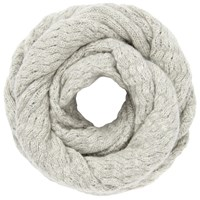 John Lewis Cashmere Cable Snood Grey