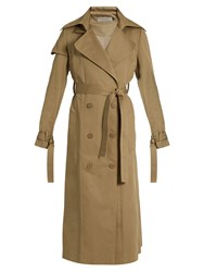 Preen Line Drita Cotton Twill Trench Coat Beige