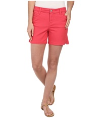 Calvin Klein Jeans Five Pocket Colour Short Coral Flower Women's Shorts White
