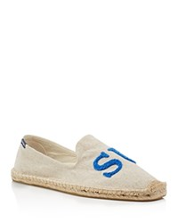 Soludos X Cuisse De Grenouille Surf Smoking Slipper Espadrilles Red Blue