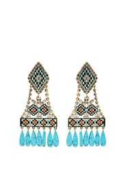 Shourouk Ramses Clip On Earrings Blue