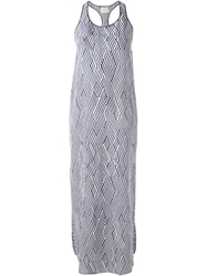 Forte Forte Geometric Print Maxi Dress Nude And Neutrals