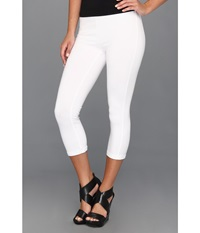Hue Cotton Capri Legging White Women's Capri