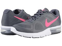 Nike Air Max Sequent Dark Grey White Black Hyper Pink Women's Running Shoes Gray