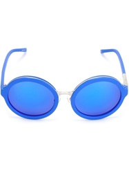 3.1 Phillip Lim By Linda Farrow Gallery Round Tinted Sunglasses Blue