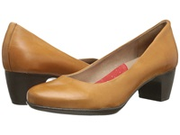 Softwalk Imperial Cognac Soft Dull Leather Women's 1 2 Inch Heel Shoes Brown