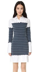 Opening Ceremony Smocked Poplin Shirtdress White Multi