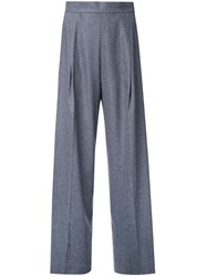 H Beauty And Youth Pleated High Waisted Trousers Grey