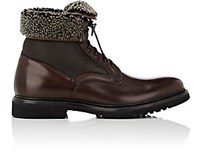 Franceschetti Women's Leather And Shearling Boots Dark Brown