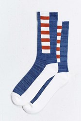 Urban Outfitters Athletic Blocking Sock Blue