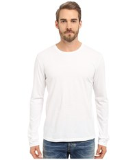 Alternative Apparel Cotton Jersey Heritage Lon Sleeve Shirt White Men's Long Sleeve Pullover