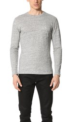Todd Snyder Double Face Jersey Long Sleeve Tee Charcoal