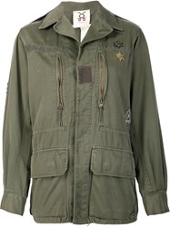 Figue 'Fall In Love' Military Jacket Green