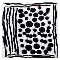 Bianca Elgar Sploshes Summer Medium Square Scarf Black White