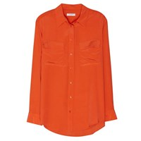 Equipment Signature Blouse Spicy Orange