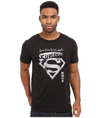 Kinetix Superman Kanji Tee Black Men's T Shirt