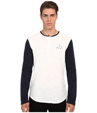 Altamont Spansive Henley White Navy Men's Clothing