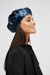 Free People Womens Up All Night Sequin Beret
