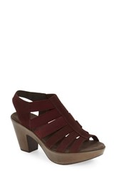 Munro American Women's 'Cookie' Slingback Sandal Wine Nubuck Leather