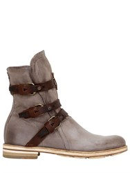 A.S.98 Washed Vegetable Dye Belted Boots