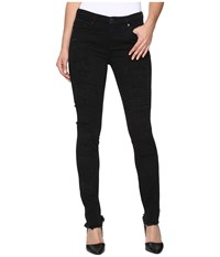 Blank Nyc Distressed Black Skinny In Low Life Low Life Women's Jeans