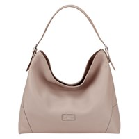 Aspinal Of London Leather Hobo Bag Taupe