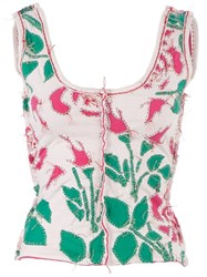 Projet Alabama Patterned Tank Top Pink And Purple