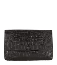 Vince Signature Croc Clutch Bag Female
